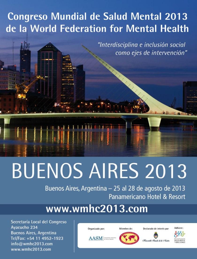 Congreso Mundial Salud Mental Buenos Aires 2013