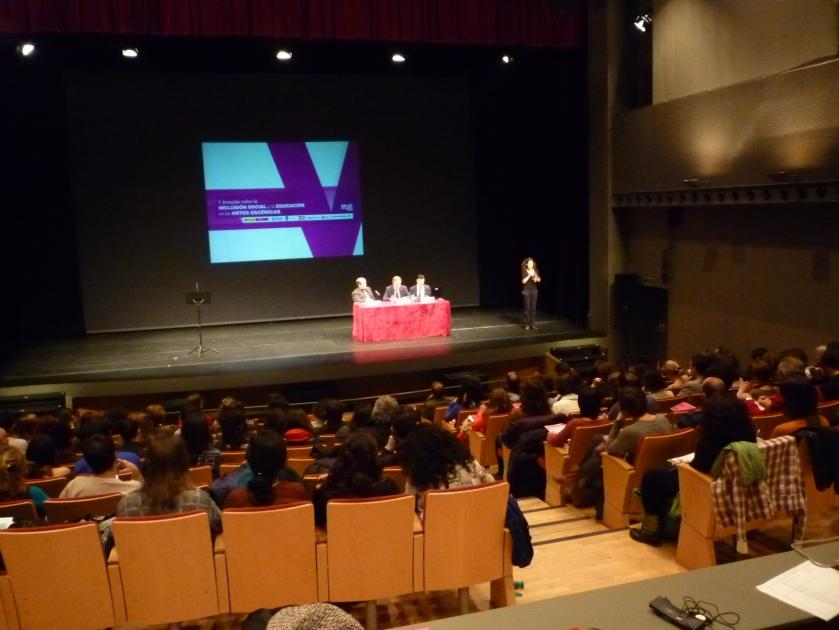 V Jornadas inclusión social educacion artes escénicas