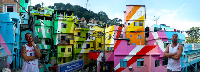 We are Haas & Hahn, of the Favela Painting project