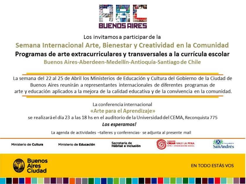 Flyer Prensa - Conferencia internacional