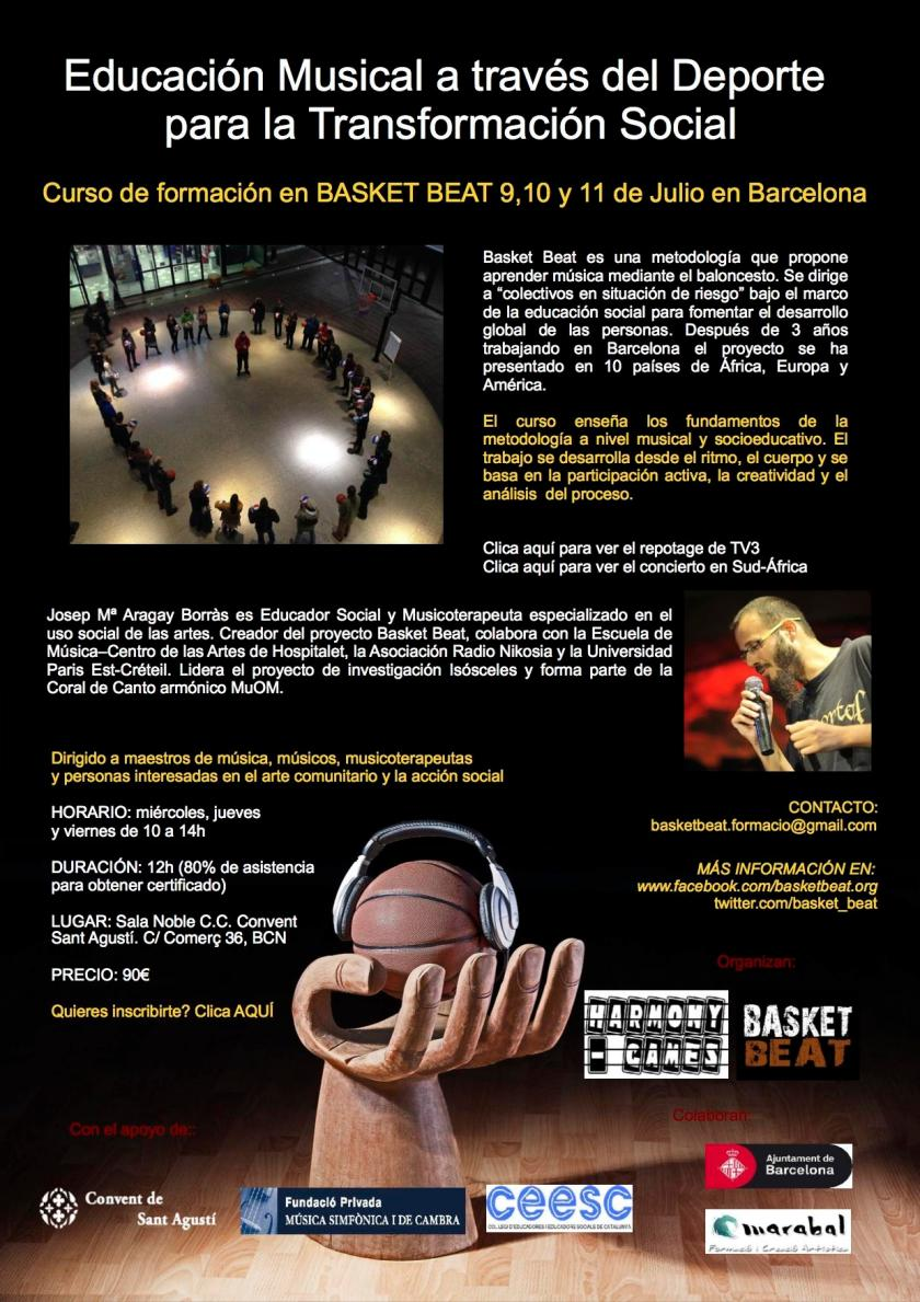 flyer Basket Beat Julio 1 cast