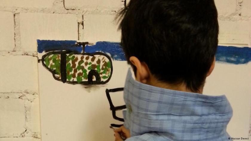 arte niños refugiados