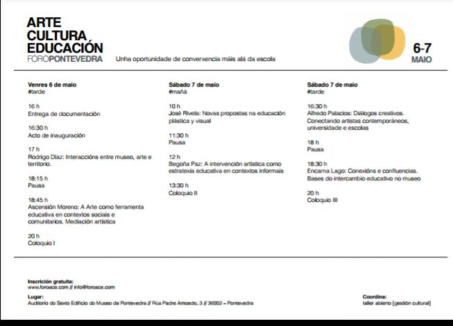 cultura arte educación Pontevedra