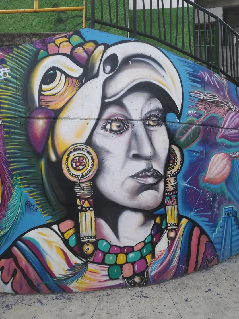Graffiti Comuna 13, Medellín. Foto: Ascensión Moreno